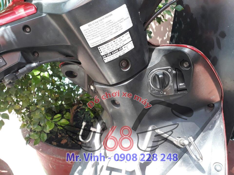 Hình ảnh: Ổ khóa Smartkey chính hãng lắp trên xe Wave S110