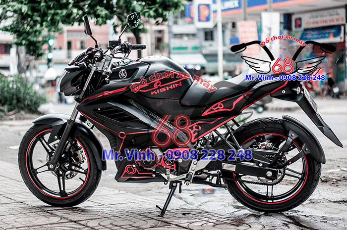 Hình ảnh: Cánh gà độ cho xe FZ giá rẻ tại Shop đồ chơi xe máy 68 TpHCM Q1