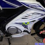 Hình ảnh: Cánh gà độ cho xe Fz màu trắng tem xanh Movita giá rẻ tại TPHCM