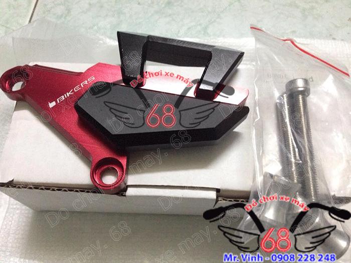 Hình ảnh: Pát bảo vệ heo dầu trước CNC độ cho SH màu đỏ đen giá rẻ chỉ có tại shop 68 TPHCM