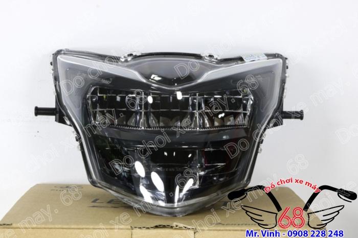 Hình ảnh: Đèn trước led 2 tầng màu đen rất ngầu độ cho Exciter giá rẻ tại shop 68 TPHCM
