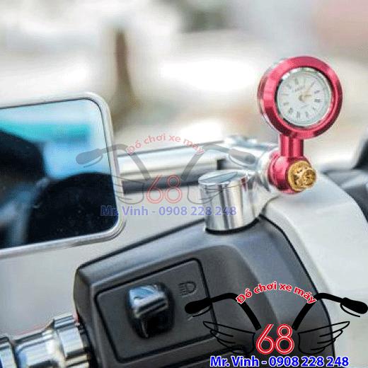 Hình ảnh: Đồng hồ mi ni gắn chân kính chiếu hậu xe Exciter chống nước giá rẻ tại TPHCM