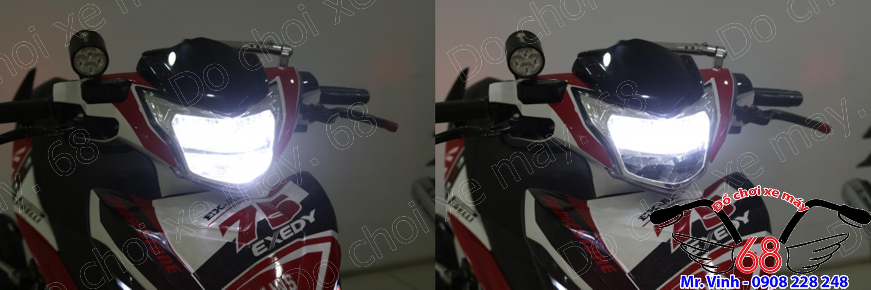 Hình ảnh: Hệ thống đèn led 2 tầng cao cấp Zhipat độ cho Exciter 135 đời 2011 và Exciter 150 đời 2015 giá rẻ tại SHOP 68 TPHCM