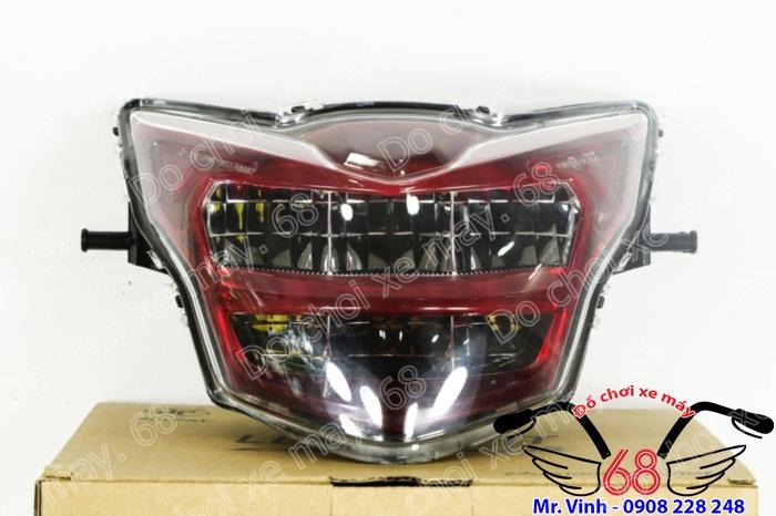 Hình ảnh: Đèn trước led 2 tầng màu đỏ độ cho Exciter giá rẻ tại shop 68 TPHCM