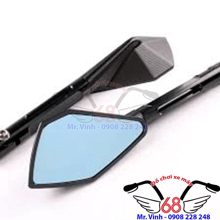 Hình ảnh: Kính chiếu hậu 5 cạnh nhỏ màu đen giá rẻ tại shop 68 TPHCM