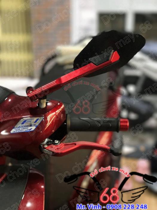 Hình ảnh: Gương chiếu hậu Rizoma Elic màu đỏ đen gắn cho SH cực sang giá rẻ tại shop 68 TPHCM