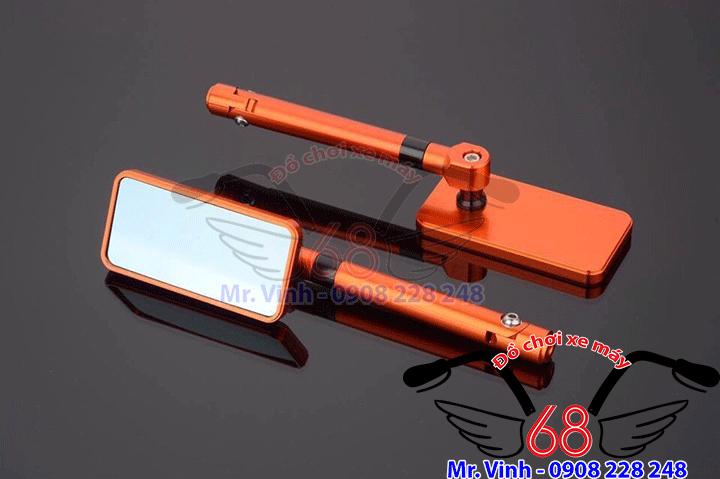 Hình ảnh: Kính chiếu hậu iphone(kính vuông) sang trọng màu cam giá rẻ tại shop 68 TPHCM