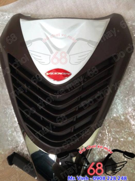 Hình ảnh: Mặt nạ SH mẫu ý độ cho xe Visson cực vừa khít với thân xe màu trắng nâu giá rẻ chỉ có tại shop 68 TPHCM