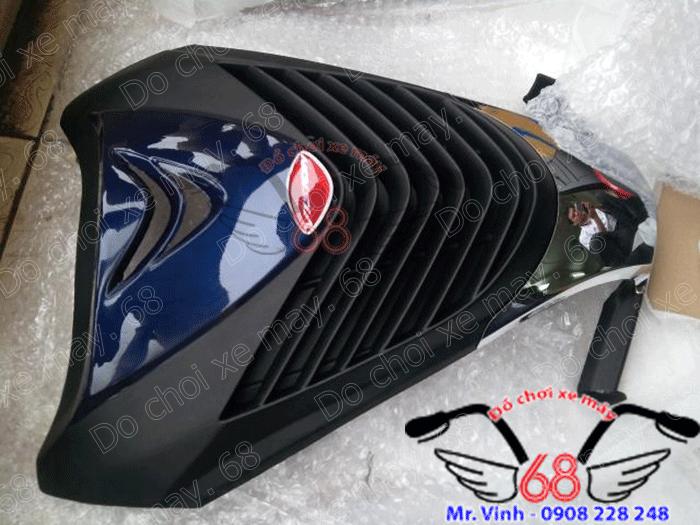 Hình ảnh: Mặt nạ SH mẫu ý độ cho xe Visson cực vừa khít với thân xe màu xanh đen giá rẻ chỉ có tại shop 68 TPHCM