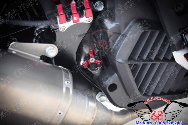 Hình ảnh: Pát che dây dầu sau và nắp nhớt máy CNC tông màu đỏ giá rẻ chỉ có tại shop 68 TPHCM