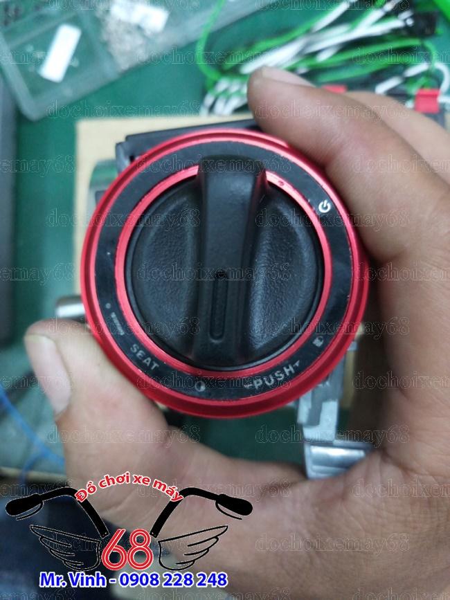 Hình ảnh: Khóa smartkey ổ tròn màu đỏ giá rẻ tại shop 68 TPHCM Q1
