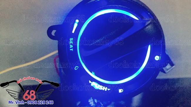 Hình ảnh: Cận cảnh nắp ổ khóa smartkey CNC màu đen Led xanh dương giá rẻ tại shop 68 TPHCM Q1