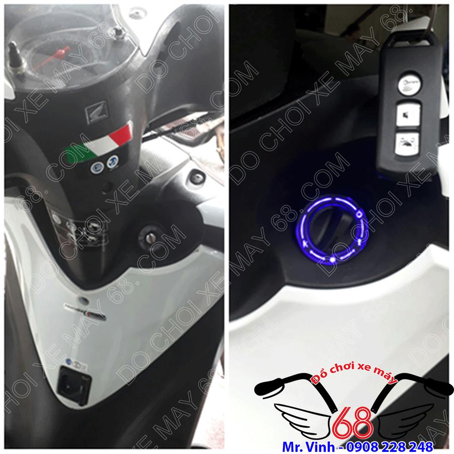 Hình ảnh: Khóa smartkey ổ tròn chống trộm chống cướp full chức năng mở yên điện trên núm cho xe SH ý tại shop 68