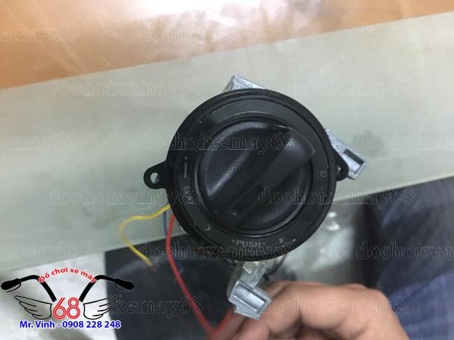 HÌnh ảnh: Nắp ổ khóa chống cướp smartkey màu đen độ cho SH và Exciter sang trọng giá rẻ tại shop 68 TPHCM Q1