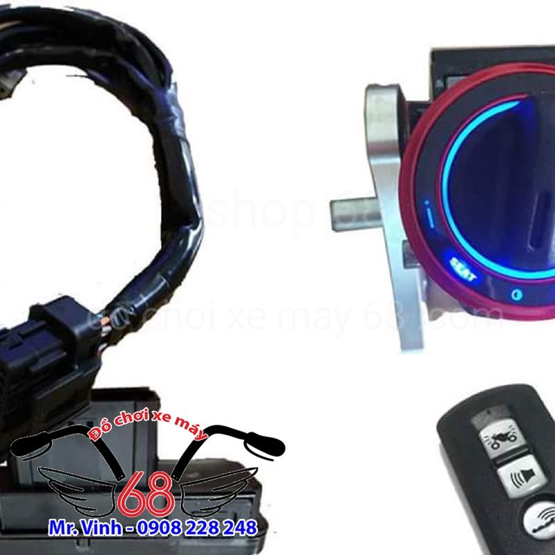 Hình ảnh: Khóa Smart key nắp tròn độ cho xe Sh Ý và Yamaha Exciter giá rẻ tại shop 68 TPHCM Q1