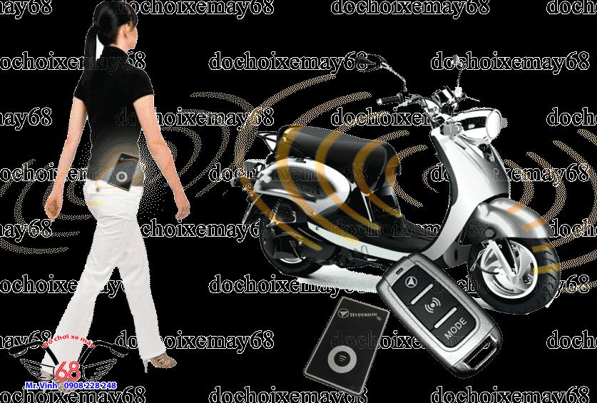 Hình ảnh: Khóa nhận dạng chủ xe HYPERION tự động chống trộm chống cướp tốt nhất tại shop 68 TPHCM Q1