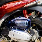 Hình ảnh: Ốp pô e màu xanh độ cho xe SH MODE tai shop 68 TPHCM