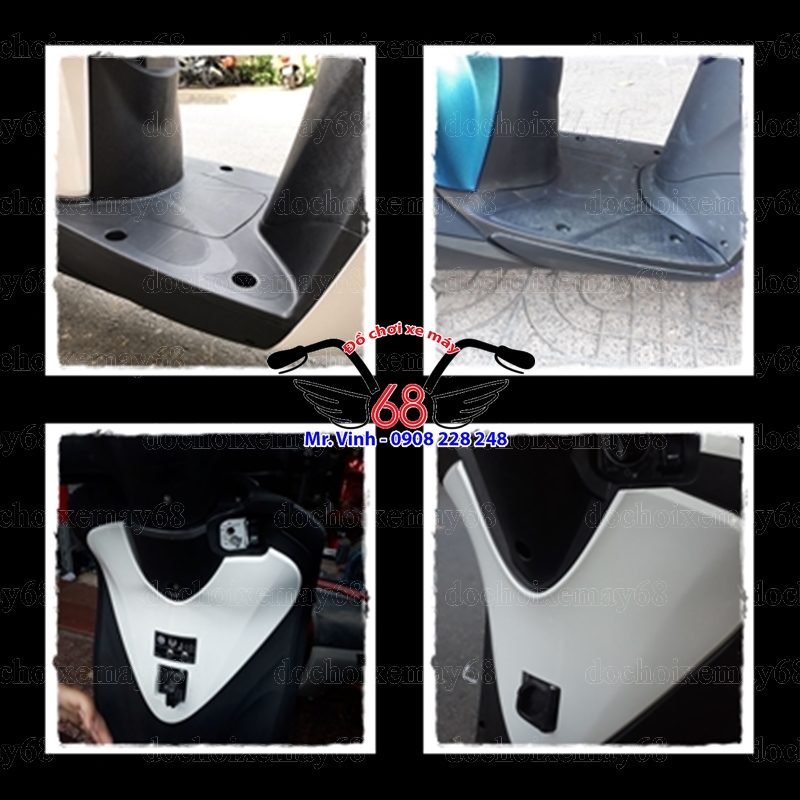 Hình ảnh: Phân biệt sàn gác chân và ốp trái tim 2 dàn áo V2 và V3 tại shop 68 TPHCM Q1