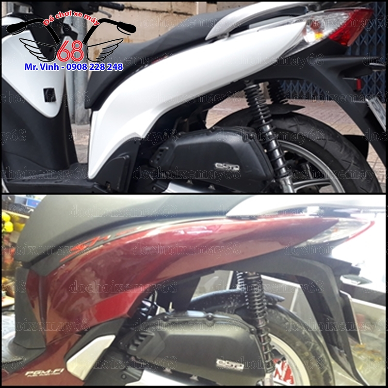 Hình ảnh: So sánh ốp bụng sau và đuôi đèn dàn áo V3 với dàn áo V2 tại shop 68 TPHCM Q1