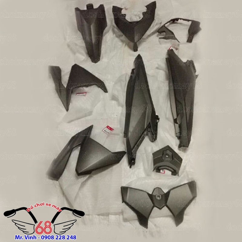 Hình ảnh: Dàn áo đầy đủ Vario 150 màu đen nham tại shop 68 TPHCM Q1 Q7
