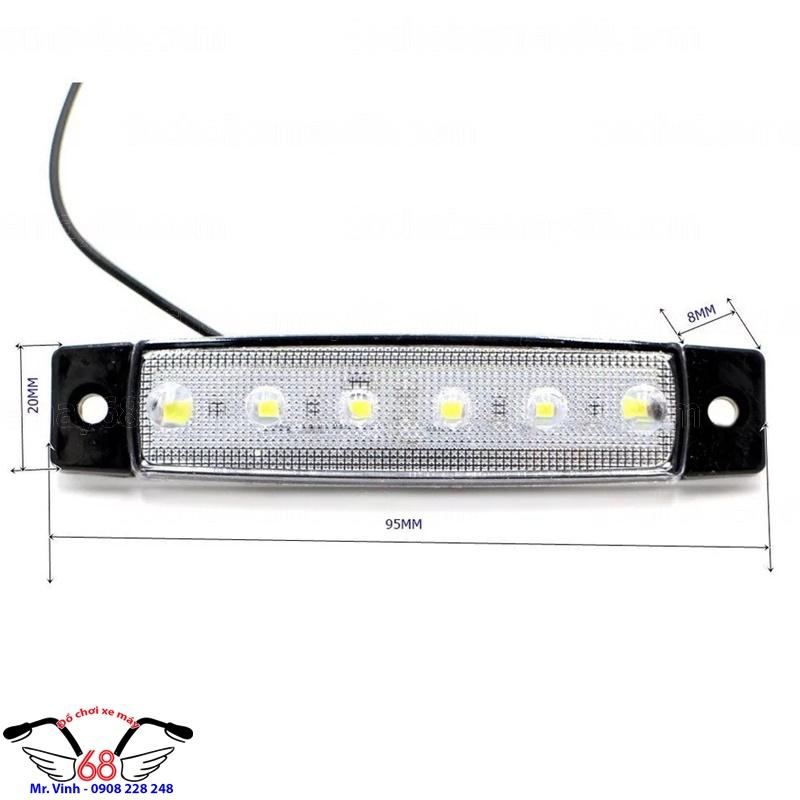Hình ảnh: Kích thước đèn led độ trong cốp xe máy cực sáng tại Shop 68 TPHCM