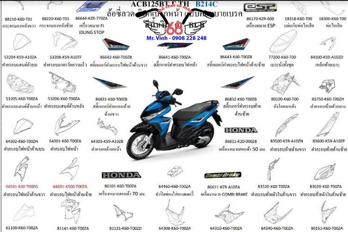 Hình ảnh: Những món phụ tùng zin chính hãng ThaiLan và Indonesia tại shop 68 TPHCM Q1
