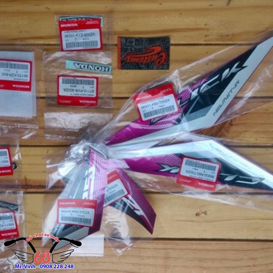 Hình ảnh: Tem chính hãng ThaiLan xe Click 125 màu tím tại shop 68 Q1