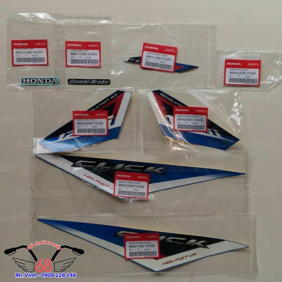 Hình ảnh: Nguyên bộ tem Click ThaiLan 125 màu xanh tại shop 68